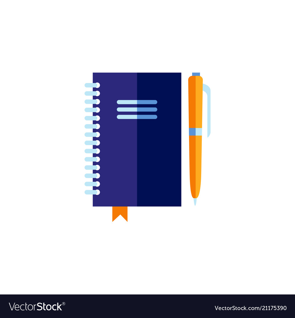 Flat personal organizer with pen