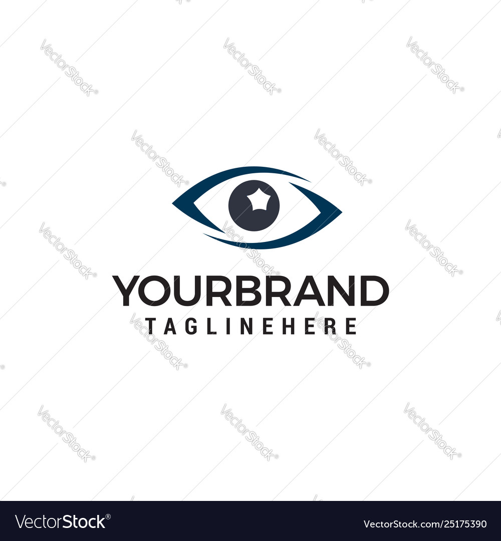 Glasses eye logo design concept template