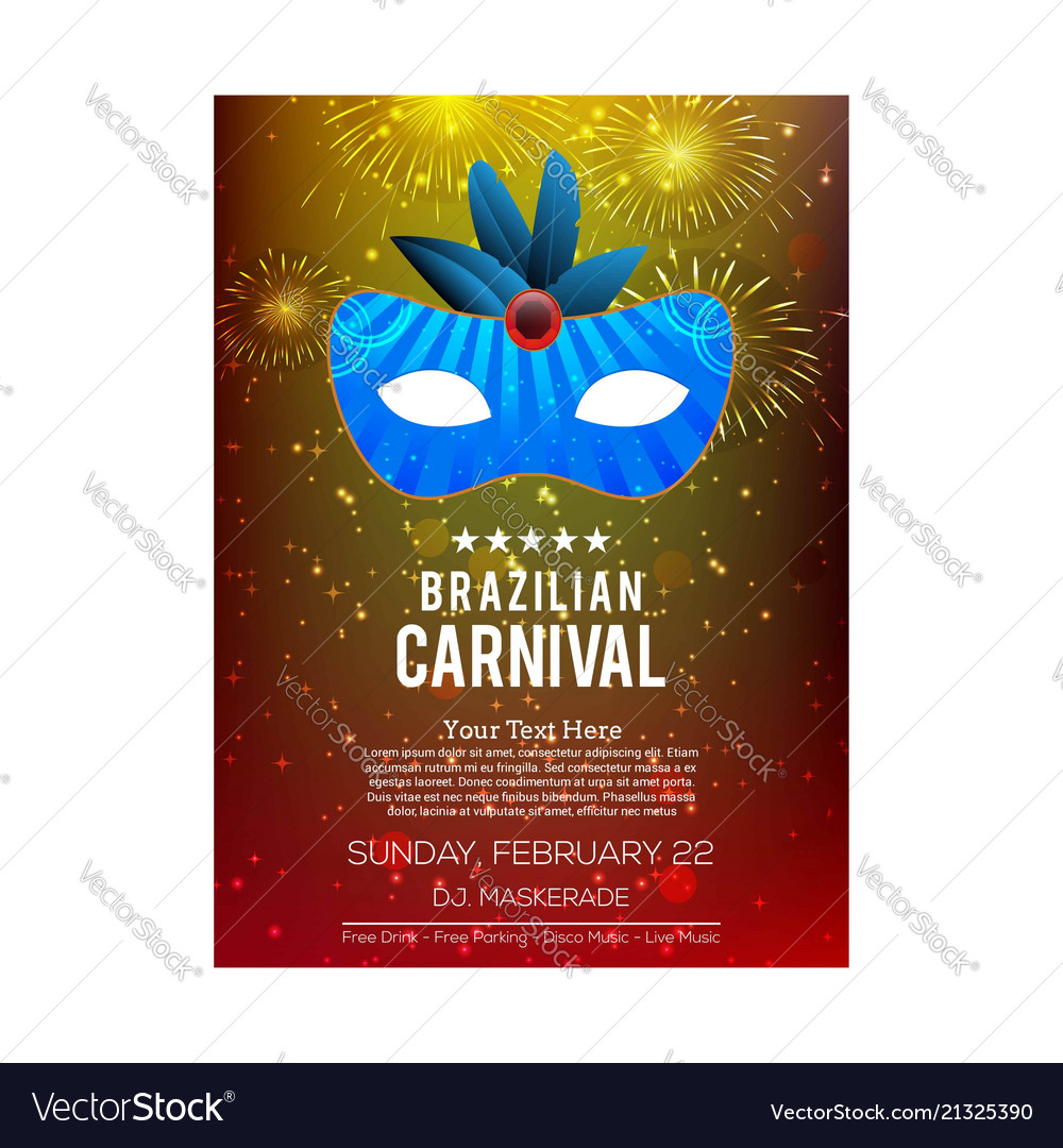 Happy brazilian carnival day colorful abstract