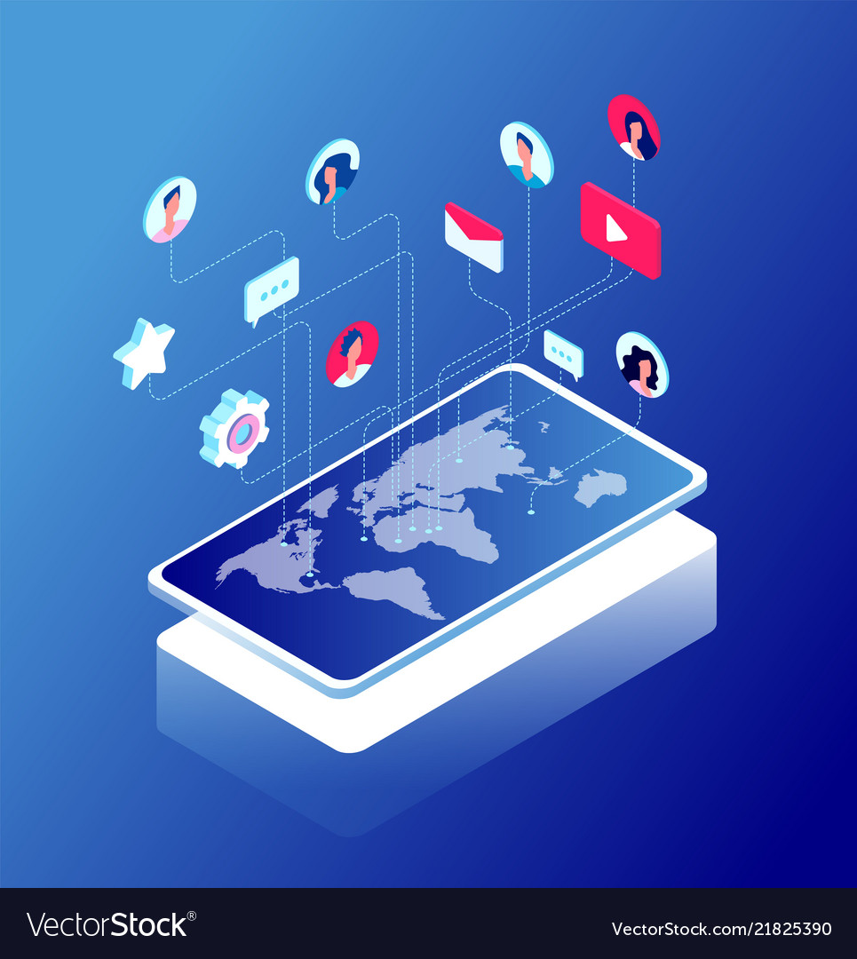 Social network and world map internet marketing