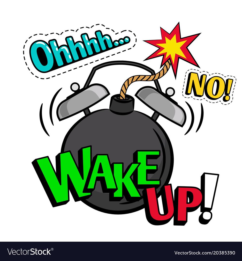 Wake up pop art style