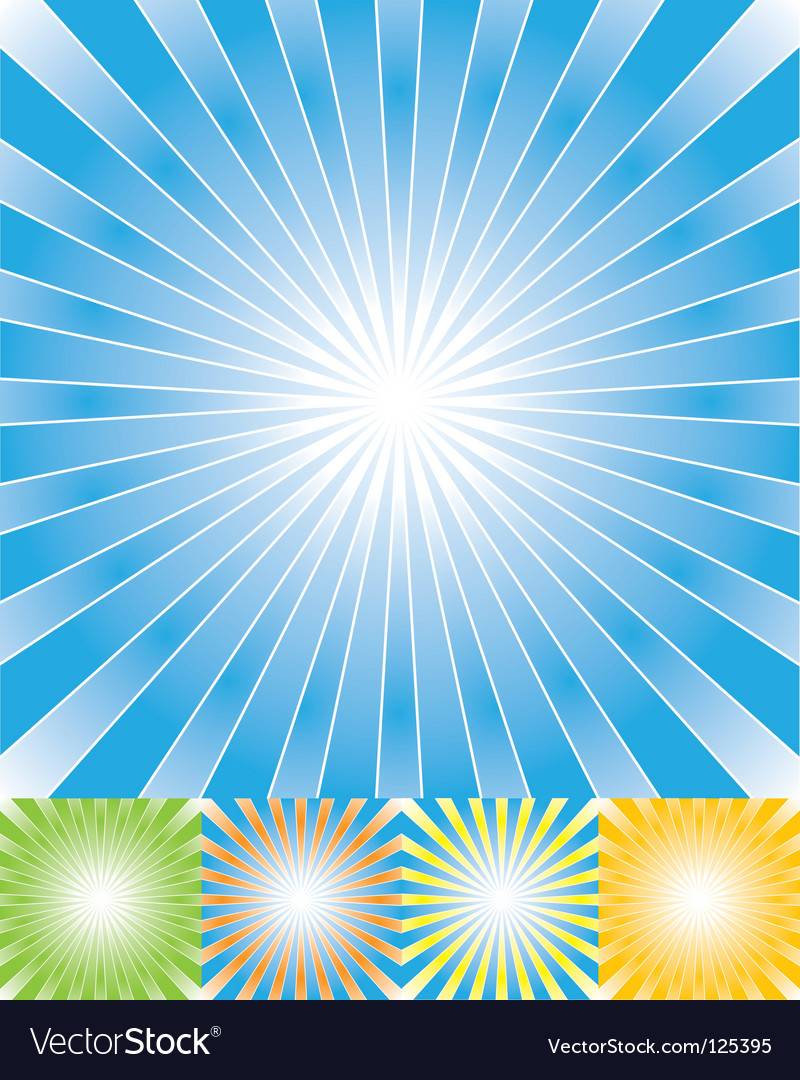 Abstract rays background set cmyk