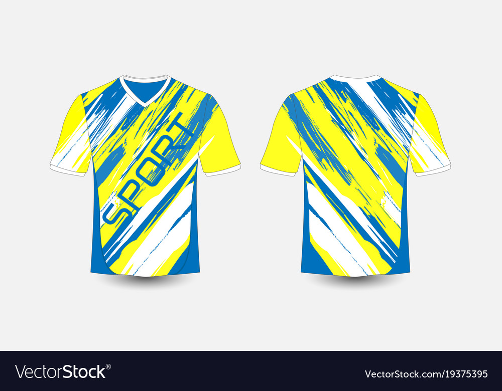 Blue And White Stripe Pattern Sport Football Kits Vector Image