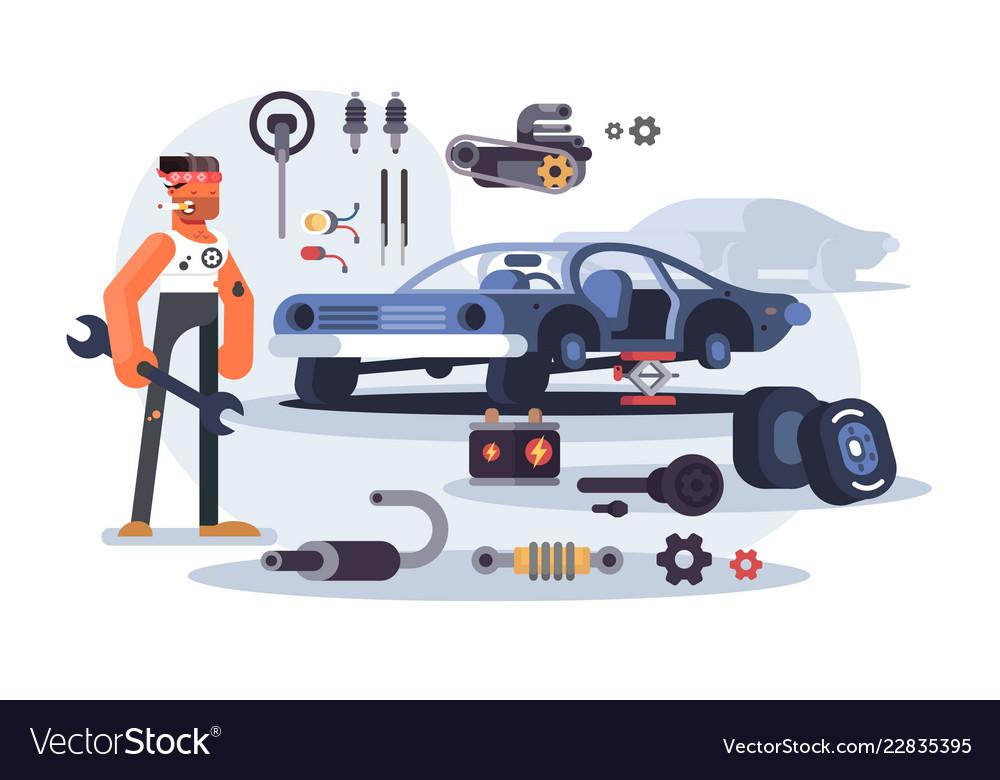 Car parts gears different mechanism