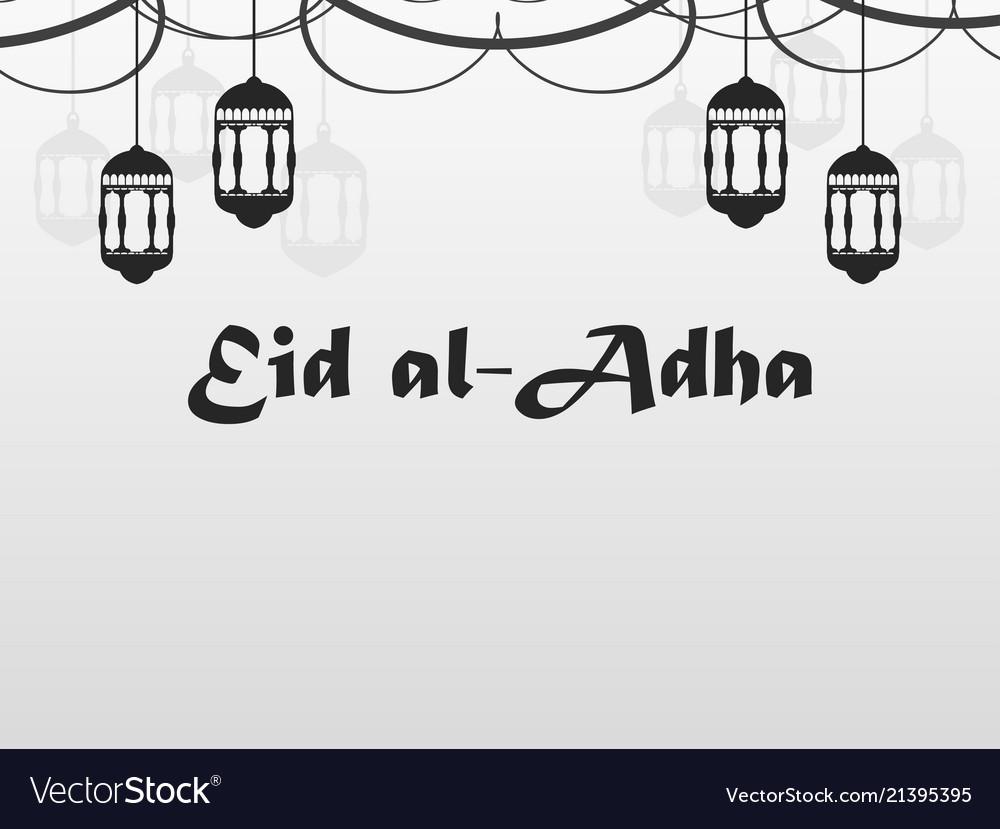 Eid al-adha hanging lanterns garland kurban