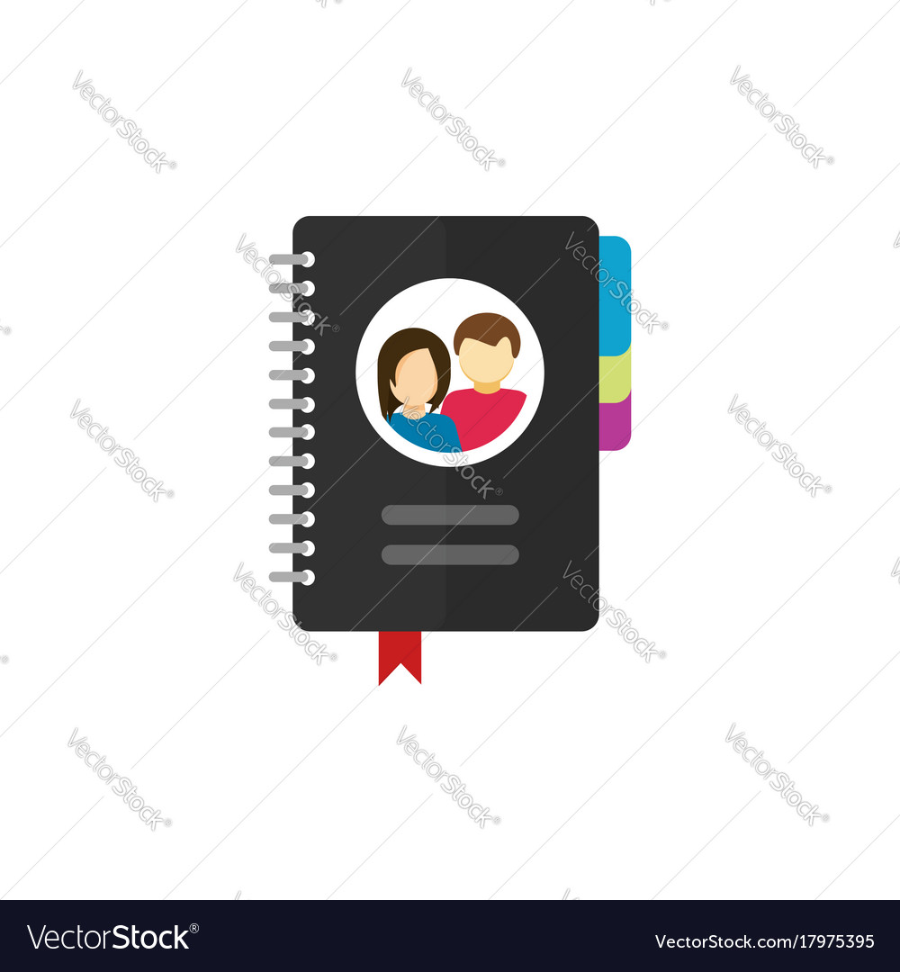 Notepad for contacts icon