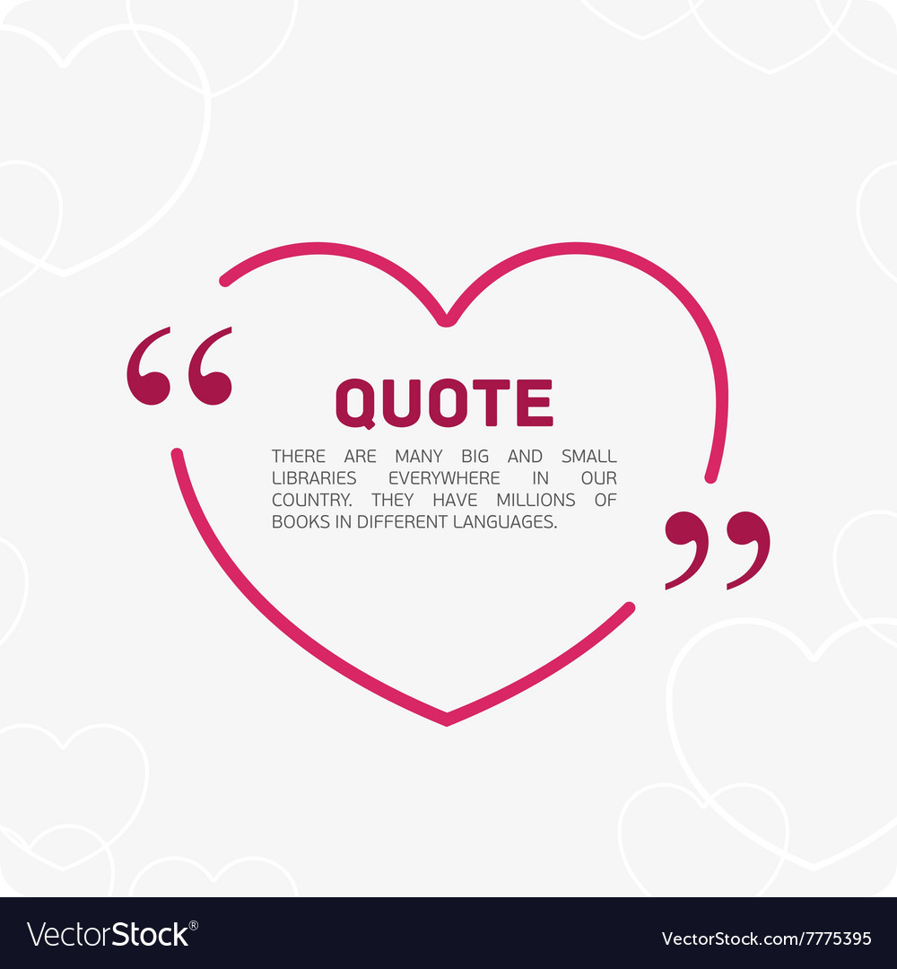 Quote in the form of heart