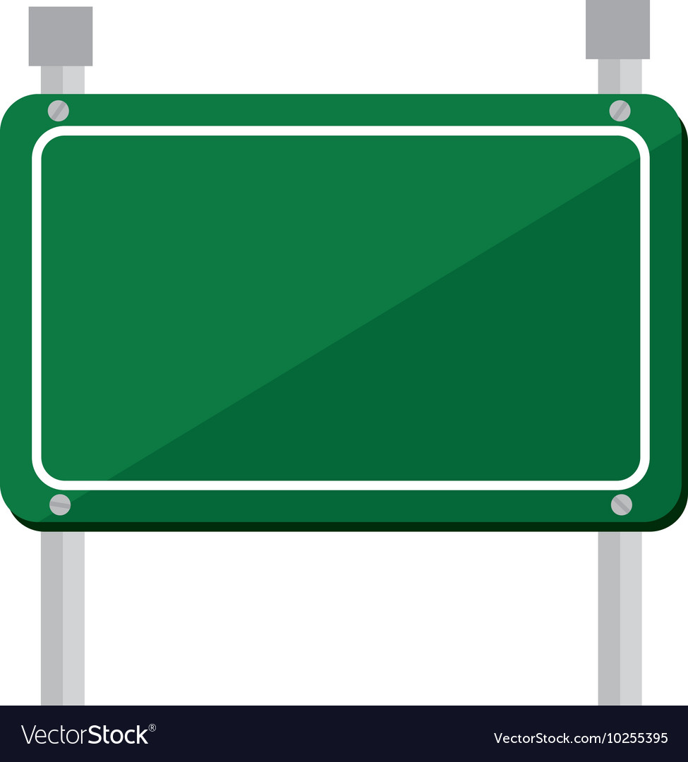 Road sign green icon