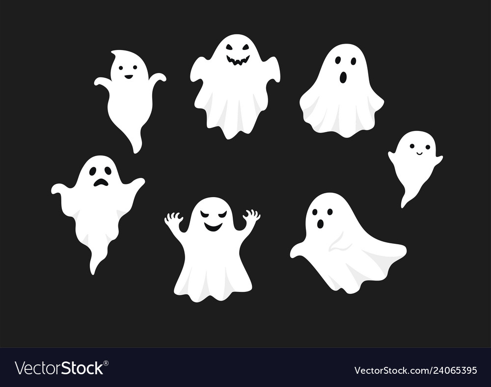 Set of cute ghost creation kit changeable face