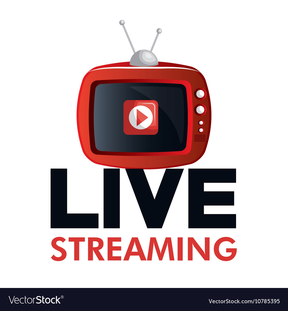 Tv video play live streaming graphic Royalty Free Vector