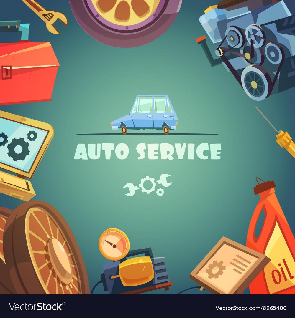 Auto Service Background vector image