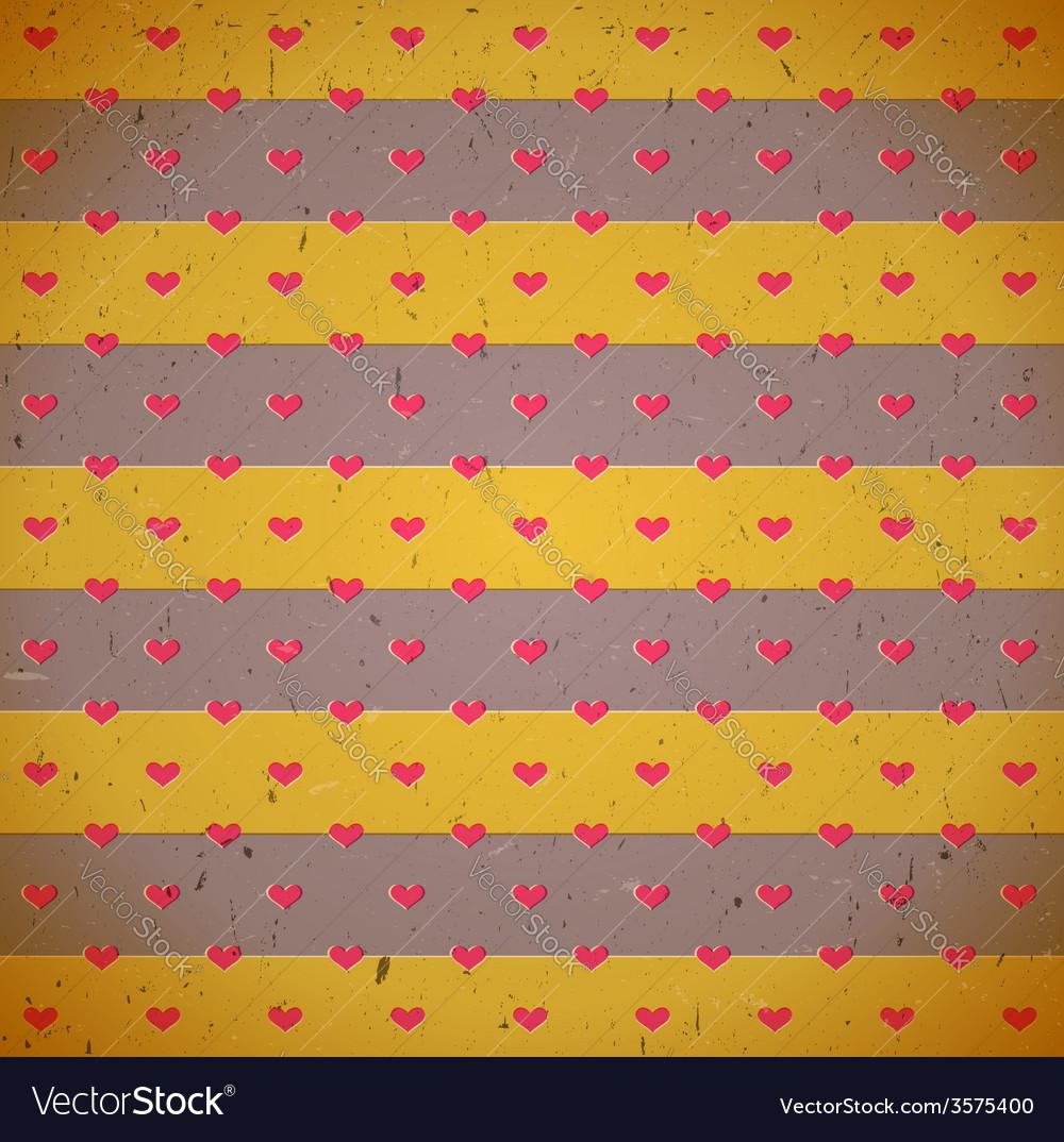 Cardboard print with hearts
