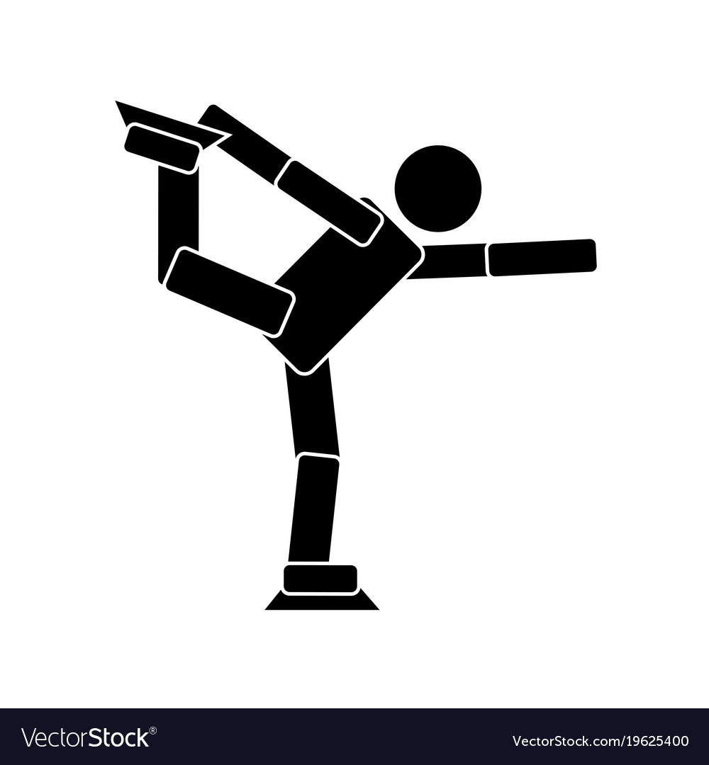 Figure skating flat icon