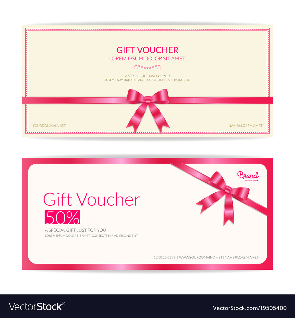 love theme gift certificate voucher gift card or vector image