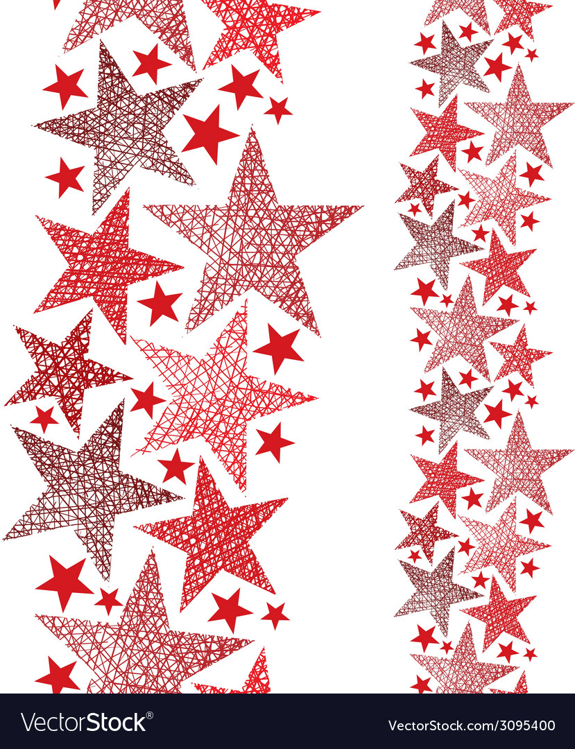 Red stars seamless pattern vertical composition