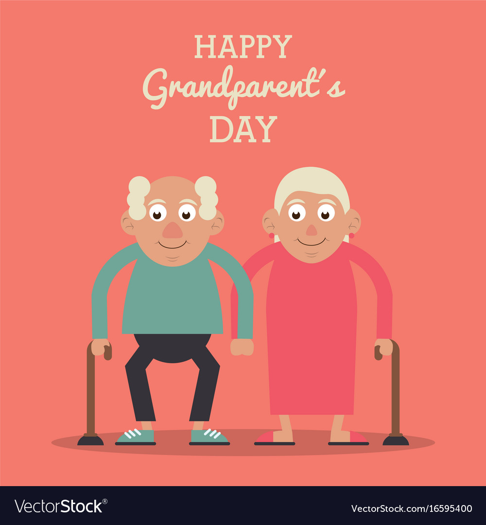 Salmon color card with text happy grandparents day