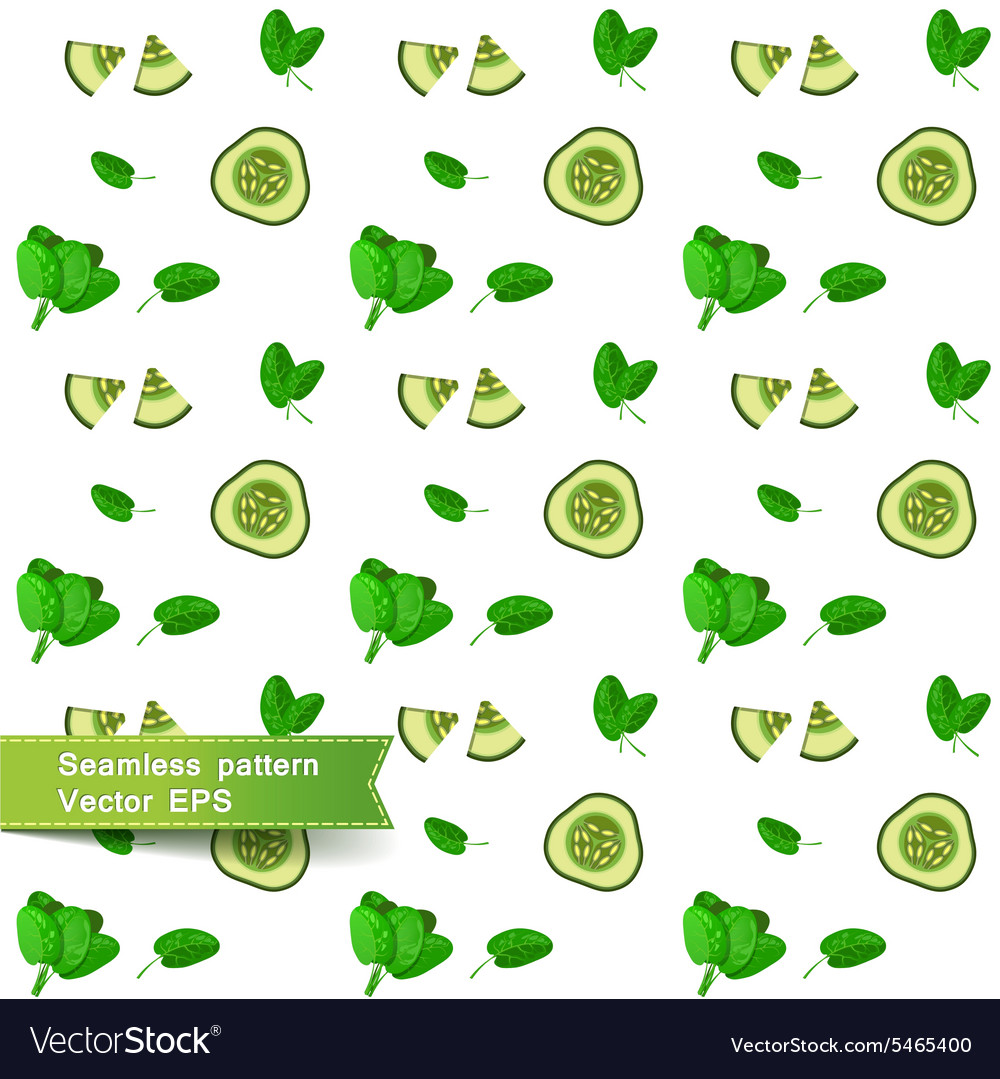 Seamless pattern with slices of vegetables