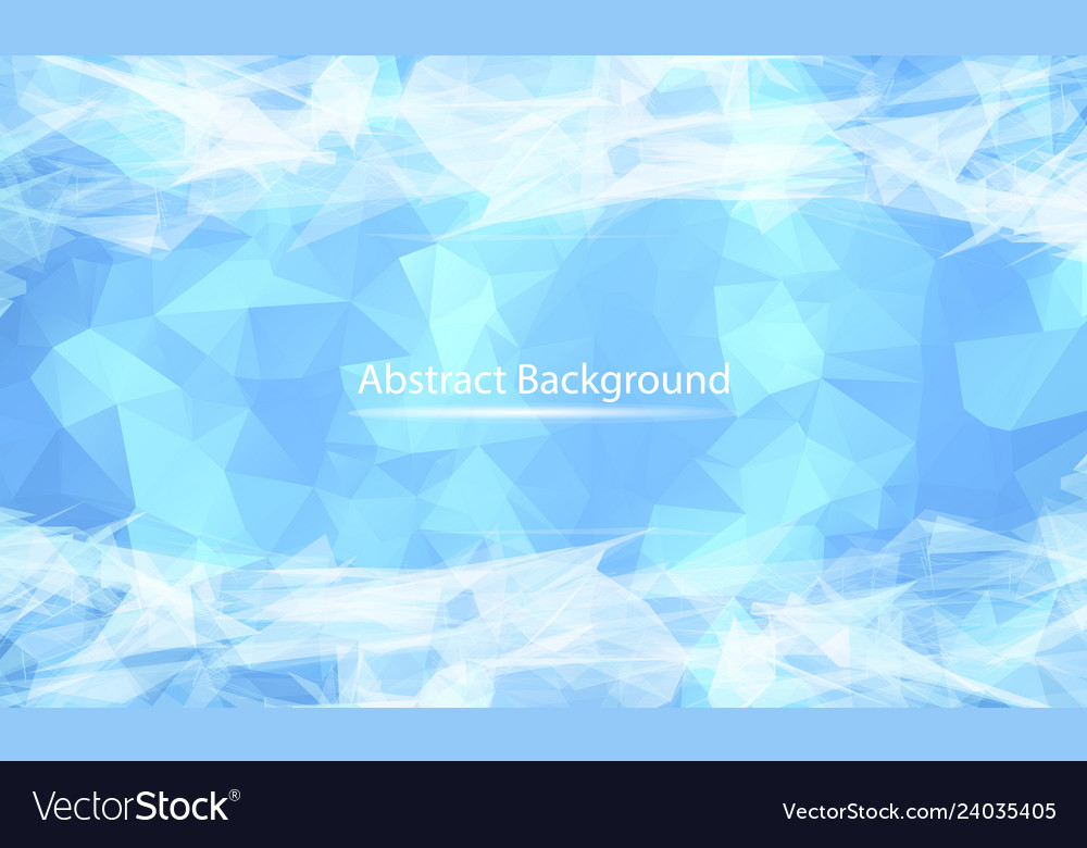 Abstract white blue polygonal surface background