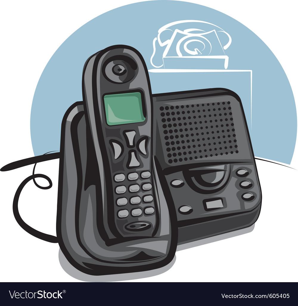 Cordless phone vector image