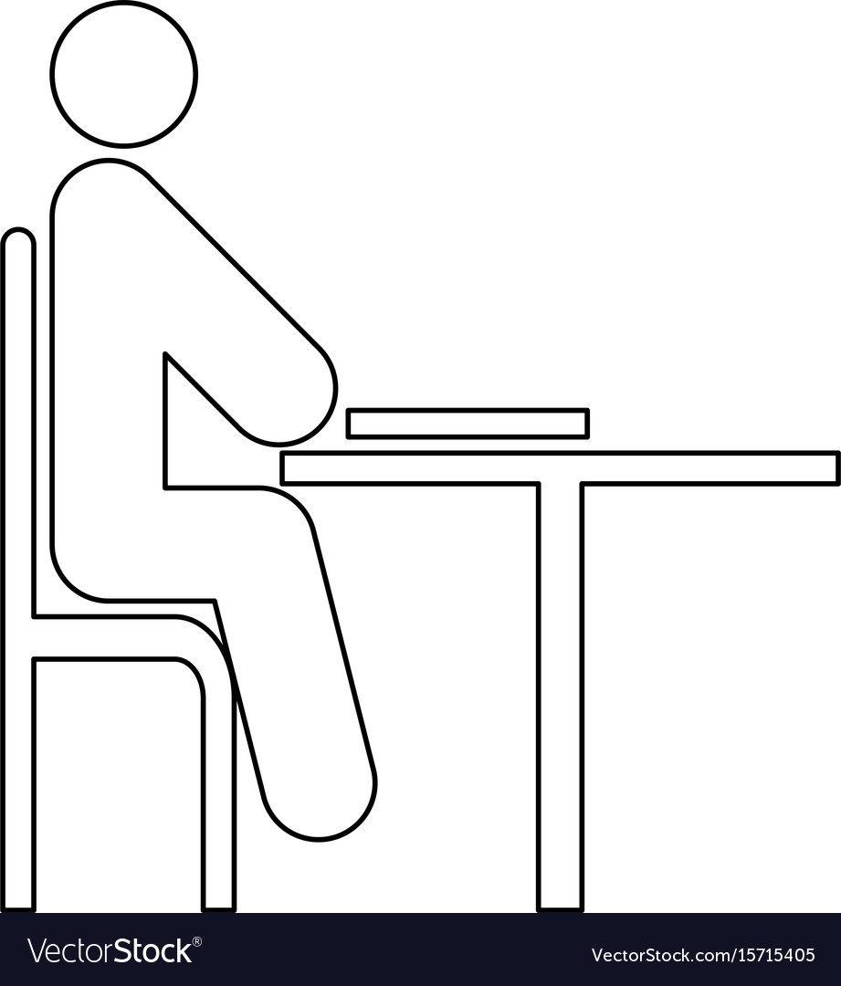 Man with notepad - stick icon