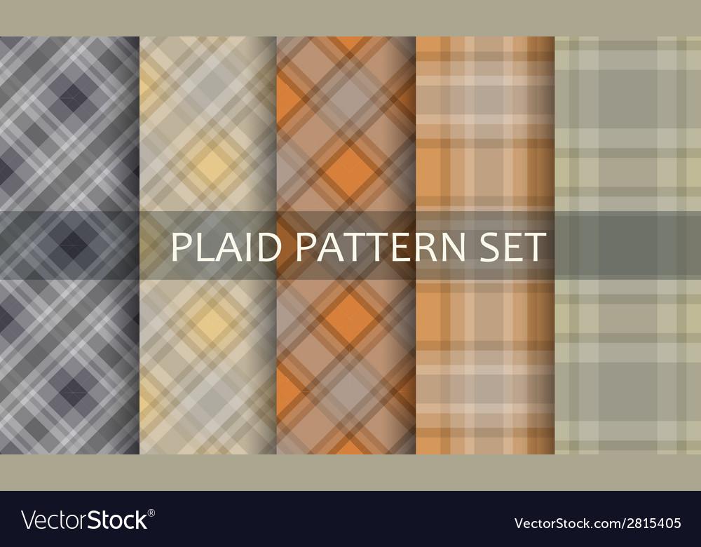 Plaid Patterns set