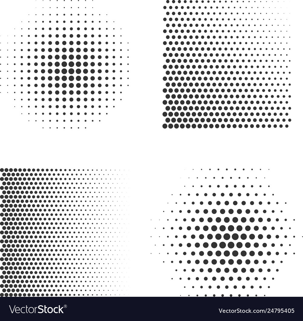 Set abstract halftone symbols