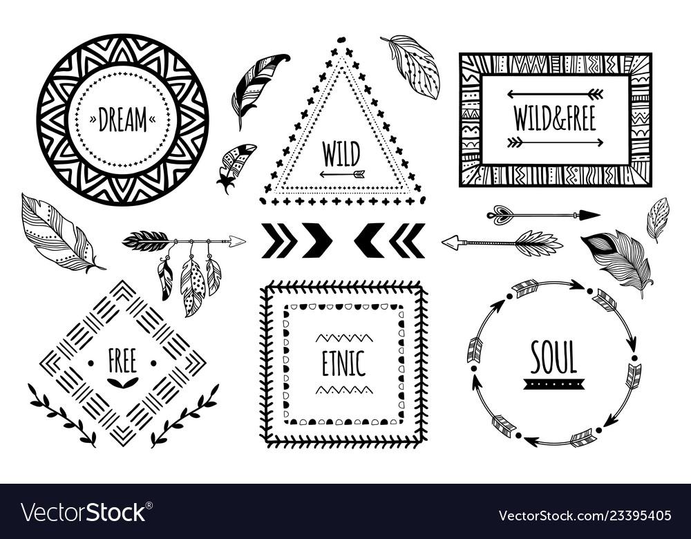 Tribal frames american indian ethnic frame