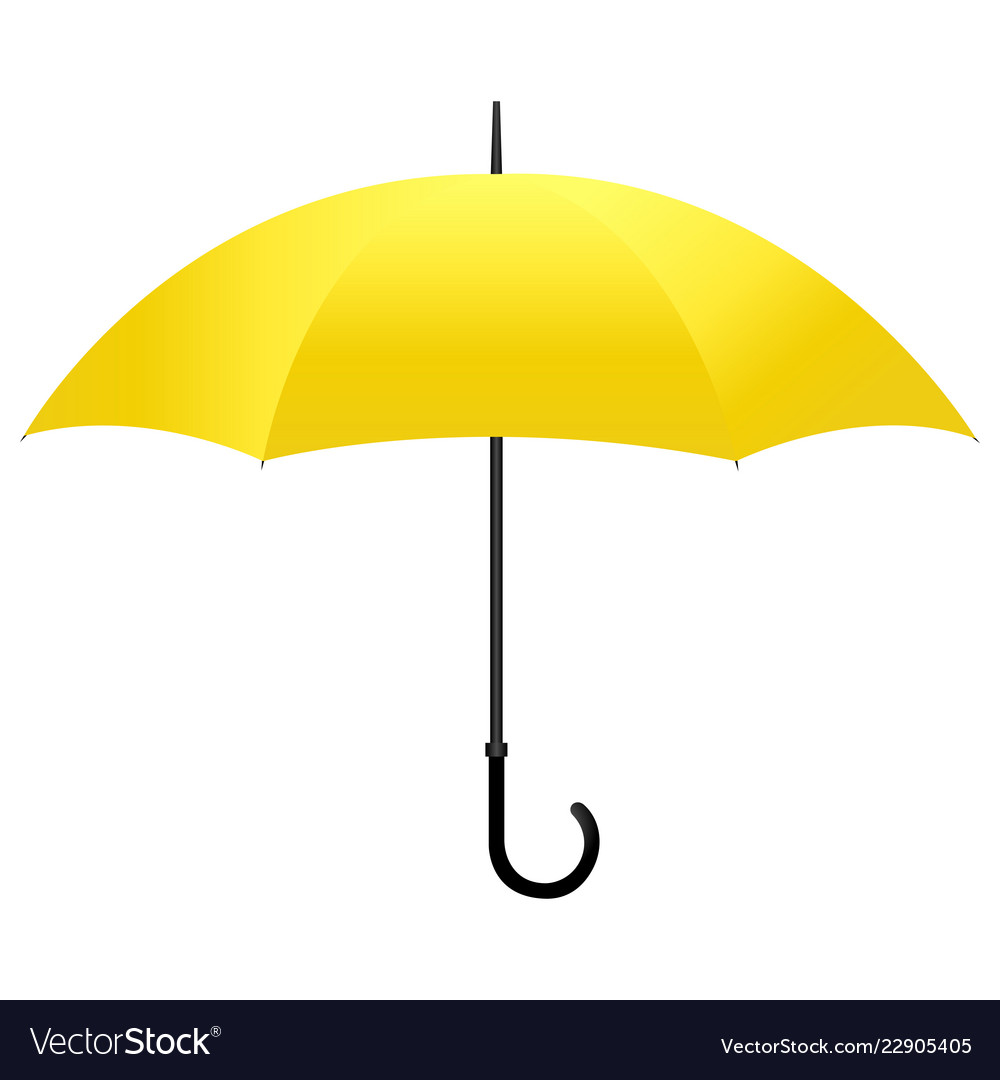 de2b64907 Yellow umbrella isolated Royalty Free Vector Image