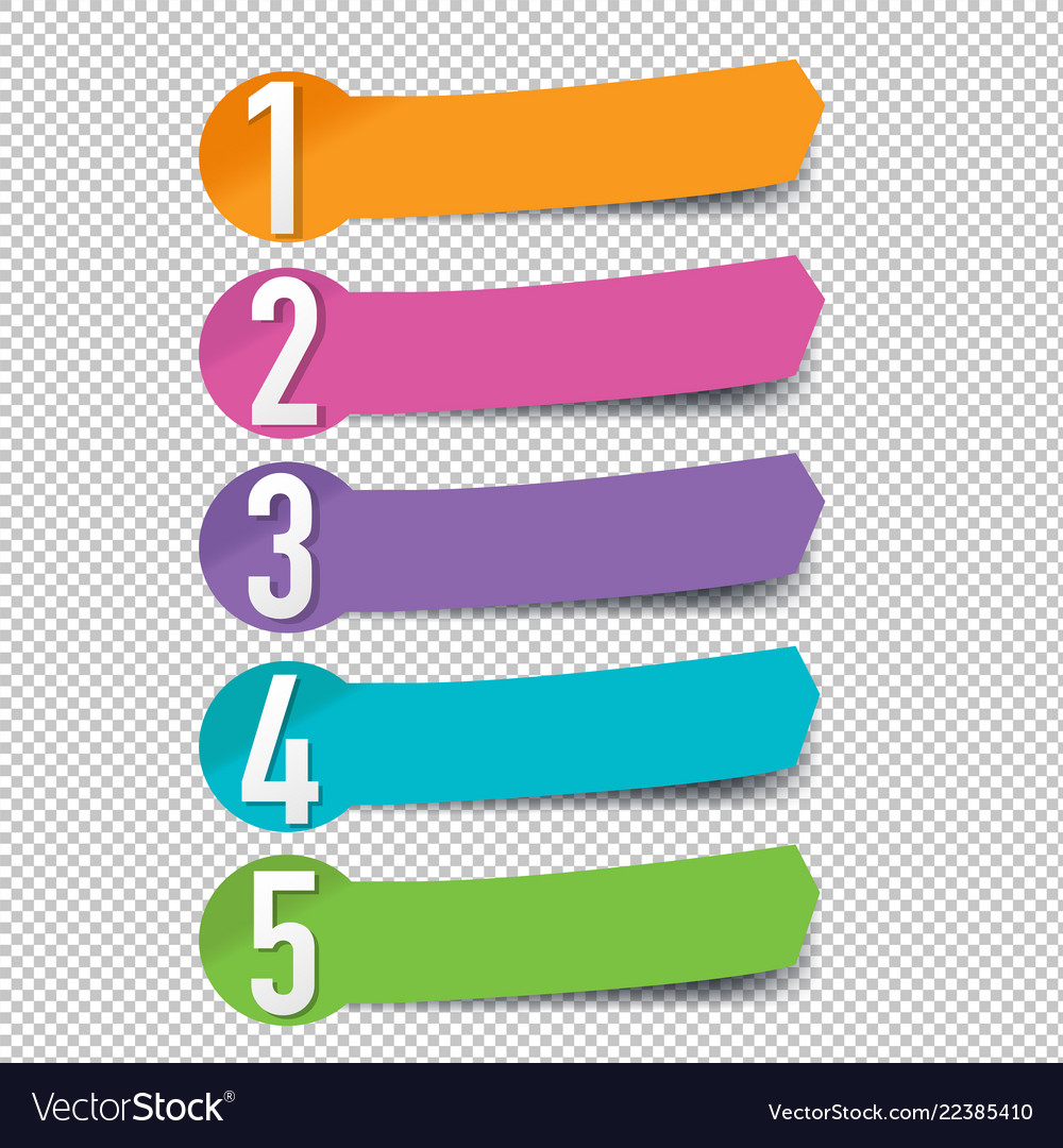 Arrows infographic set transparent background