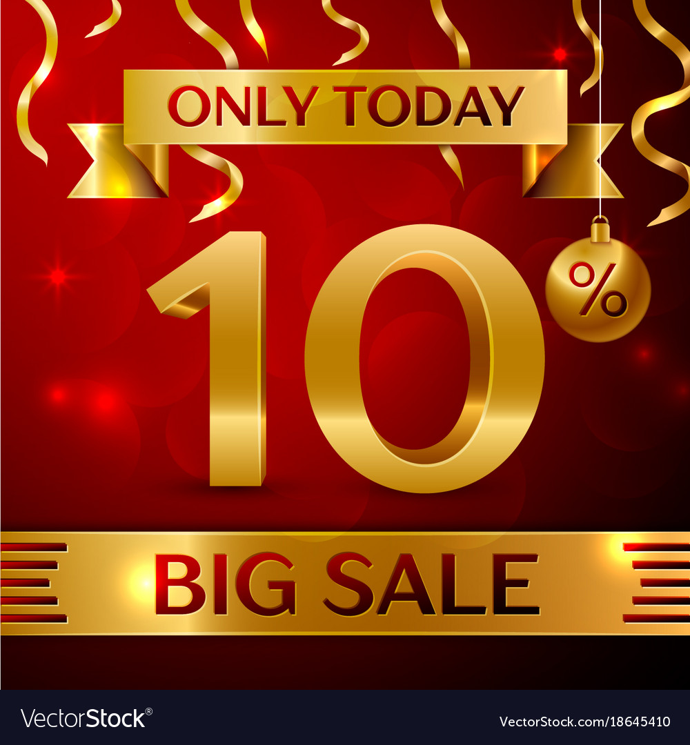 Big sale ten percent for discount vector image