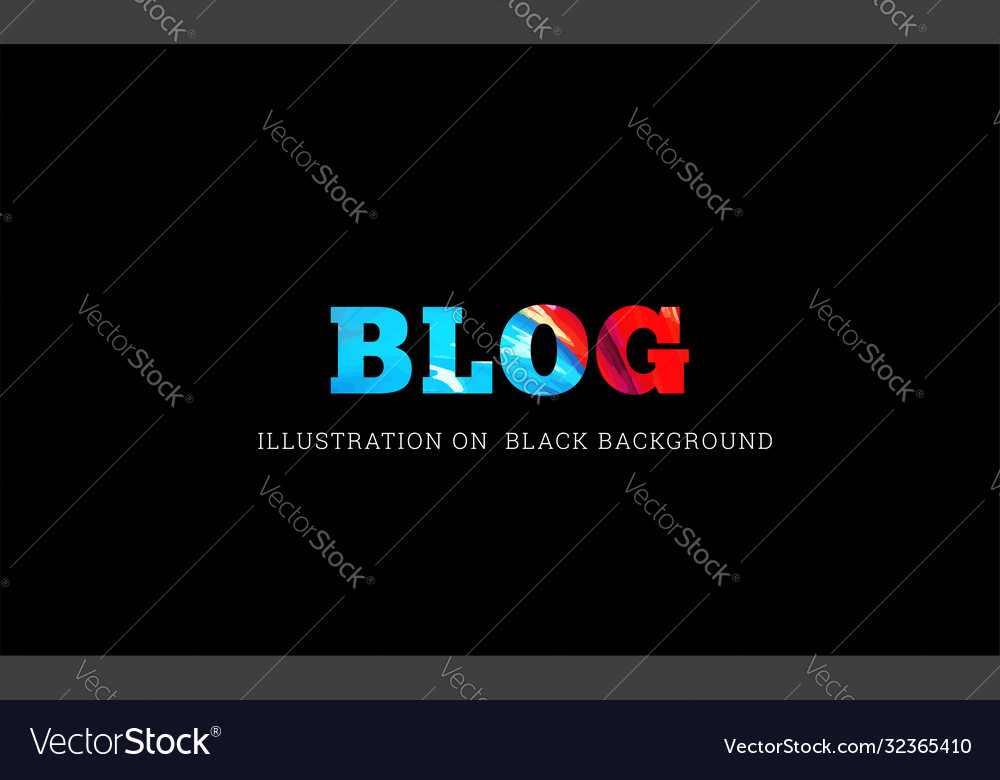 Blog text on black vector