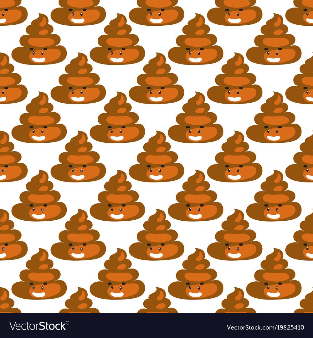 Poo emoji pattern poop fun seamless background