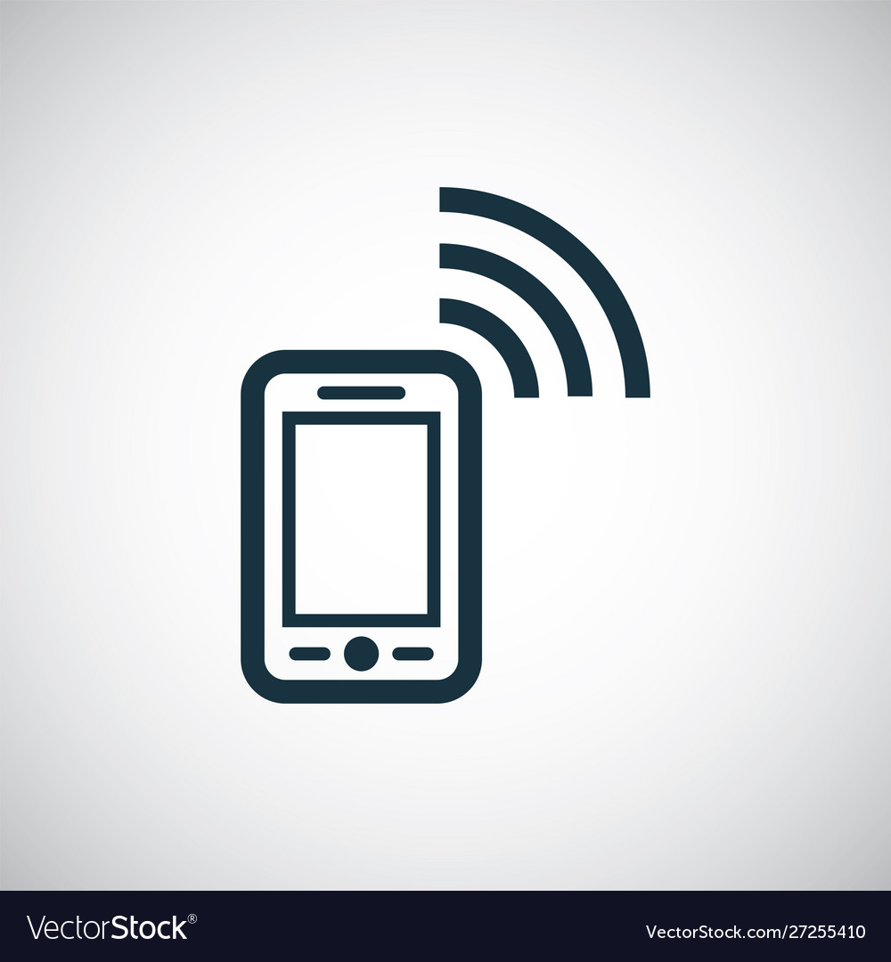 Smartphone wifi icon for web and ui on white