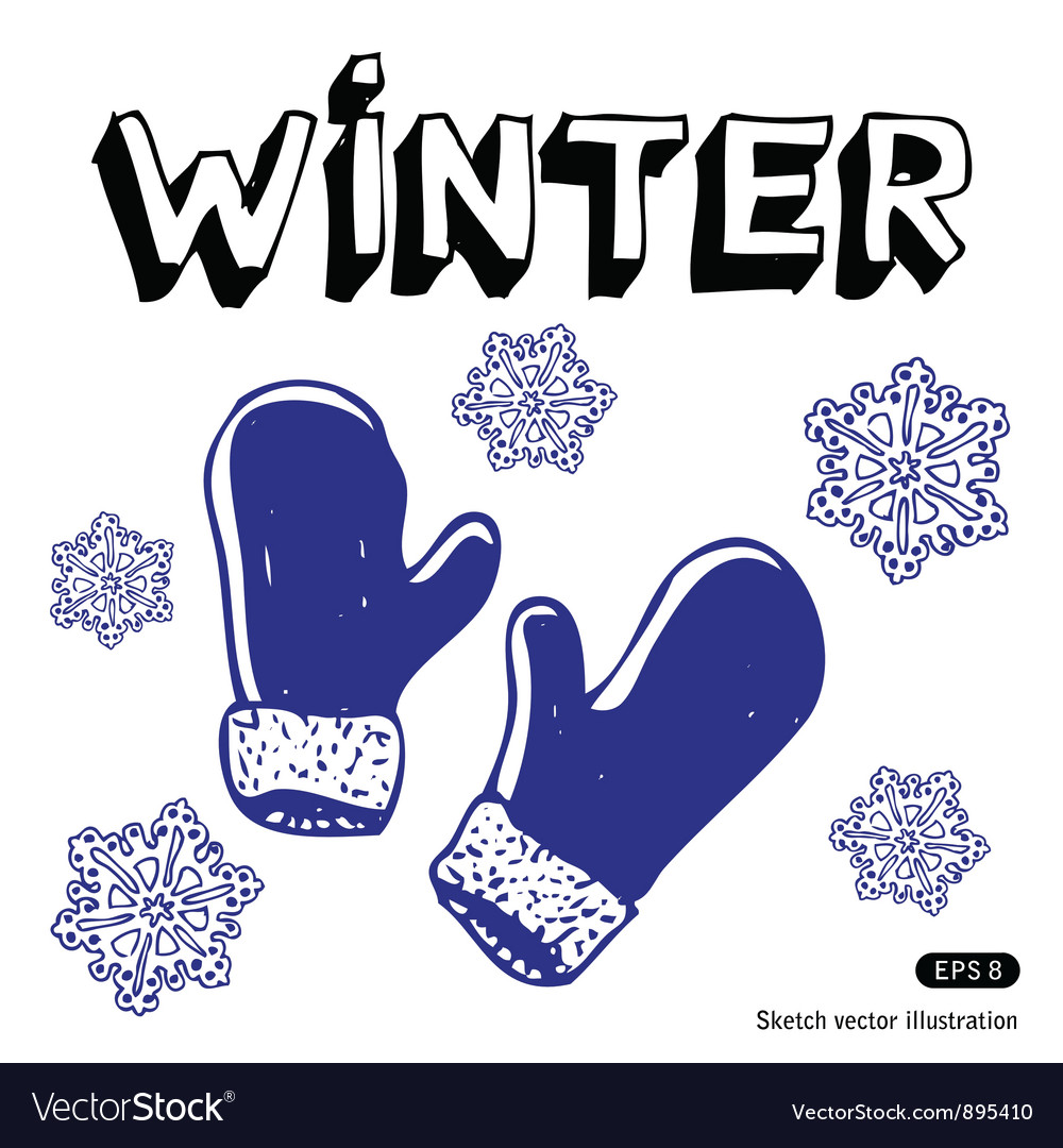 Snowflakes and mittens