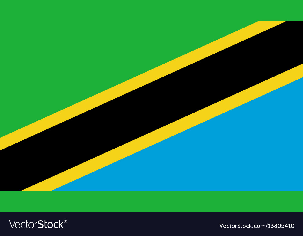 Tanzania flag for independence day and vector image