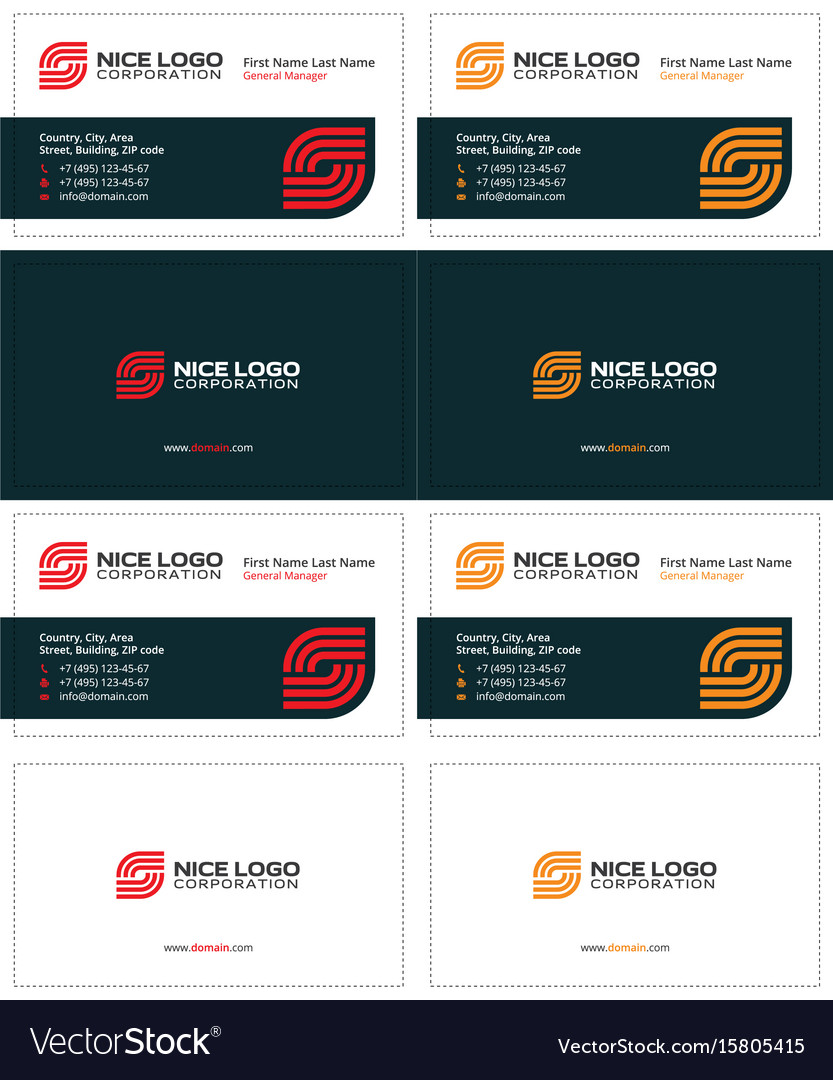 Business Card Internet Service Provider Royalty Free Vector