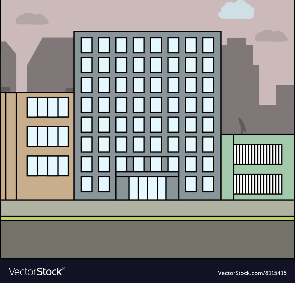 Business city architecture