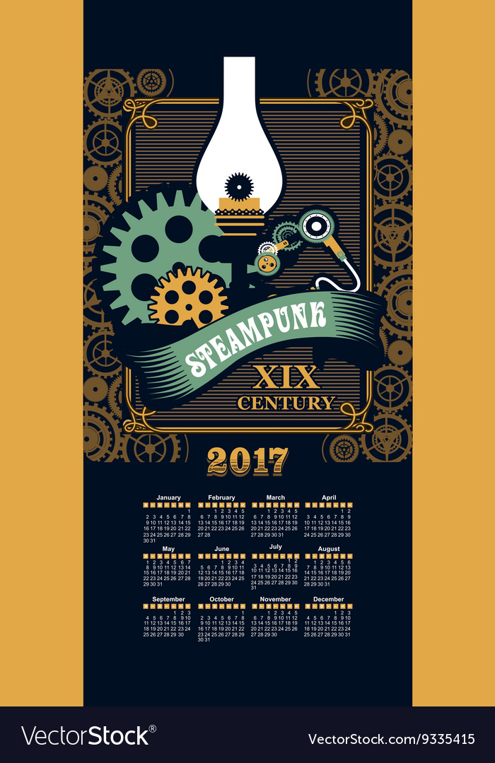 Calendar 2017 steam punk