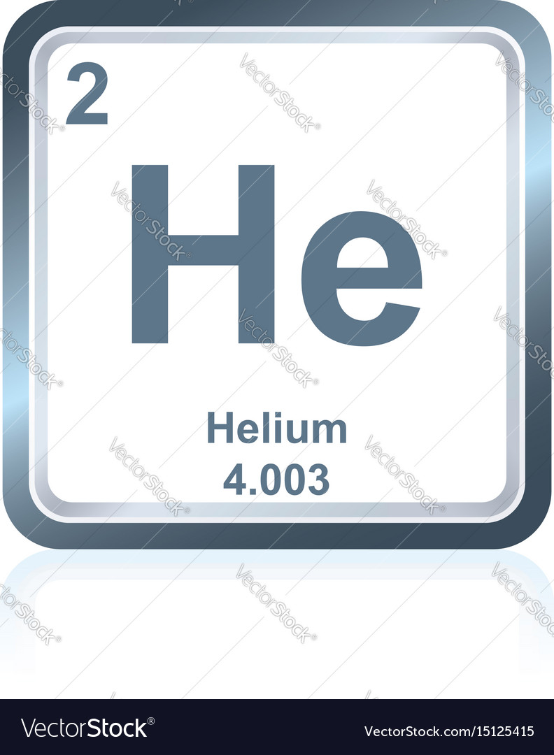 Chemical element helium from the periodic table vector image