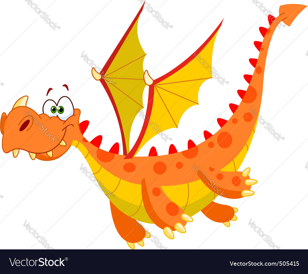 Flying dragon vector image