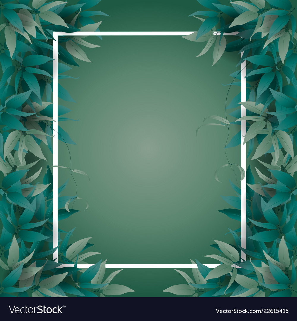 Frame with jungle leaves