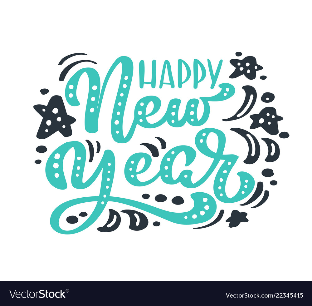 Happy New Year Lettering Design 43