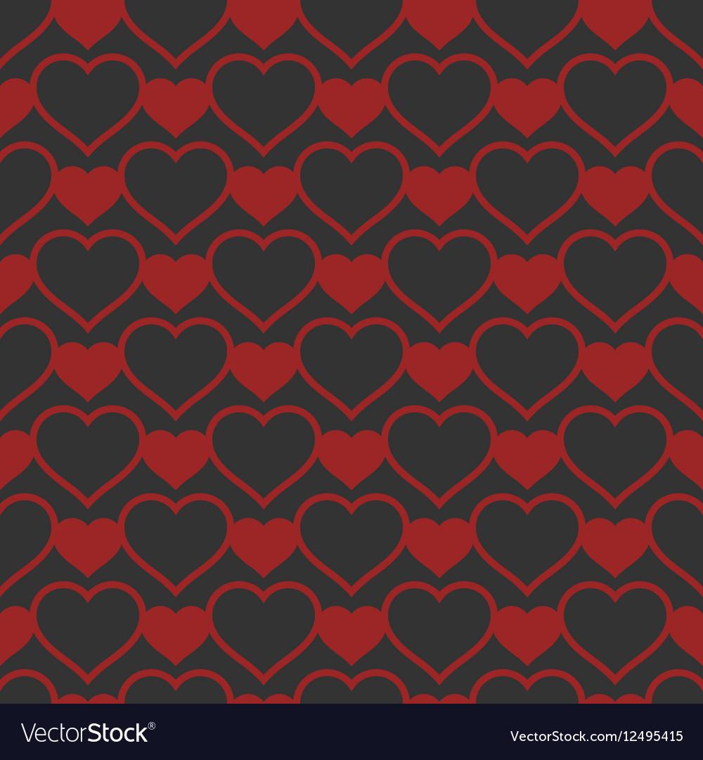 Heart shaped seamless pattern