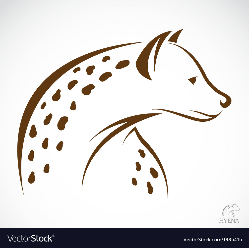 Image of an hyena vector image