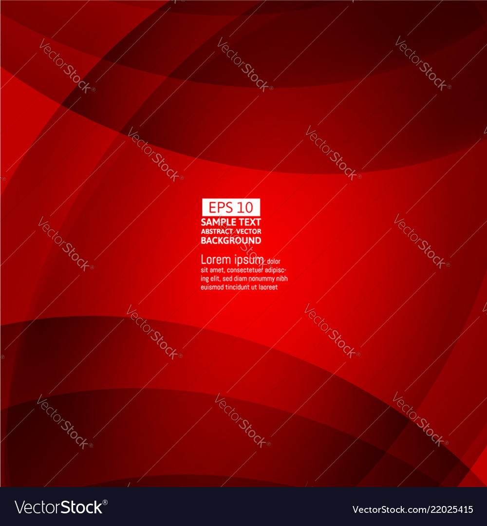 Line wave red color abstract background with copy