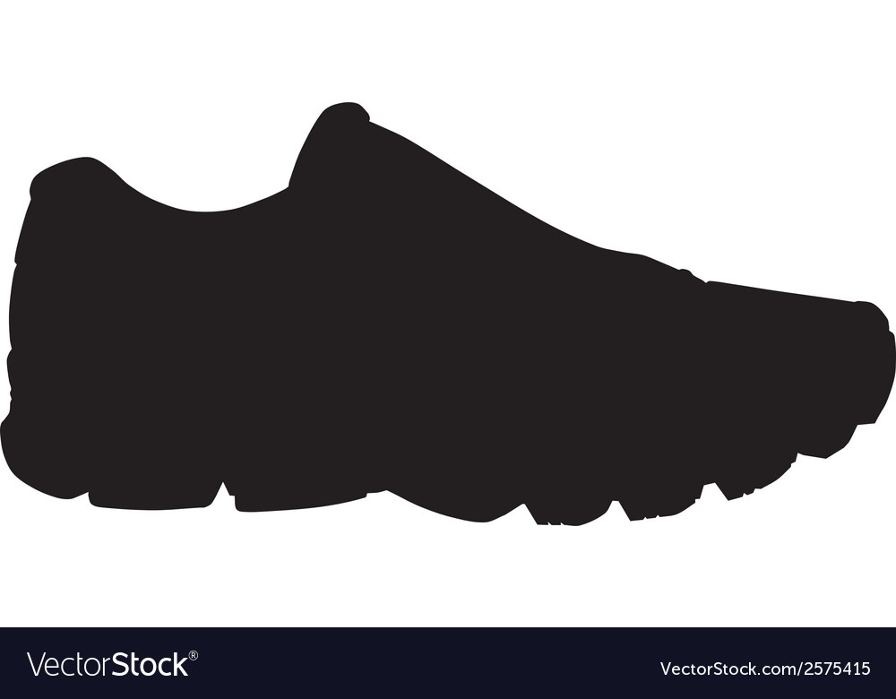 running shoe sneaker silhouette royalty free vector image rh vectorstock com running shoe sole vector running shoe sole vector