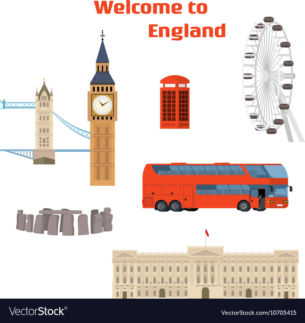Set of the London famous place and landmark