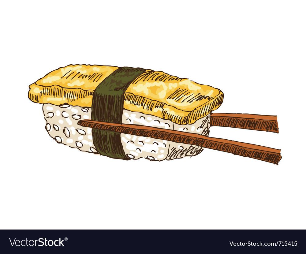 Sushi with tofu