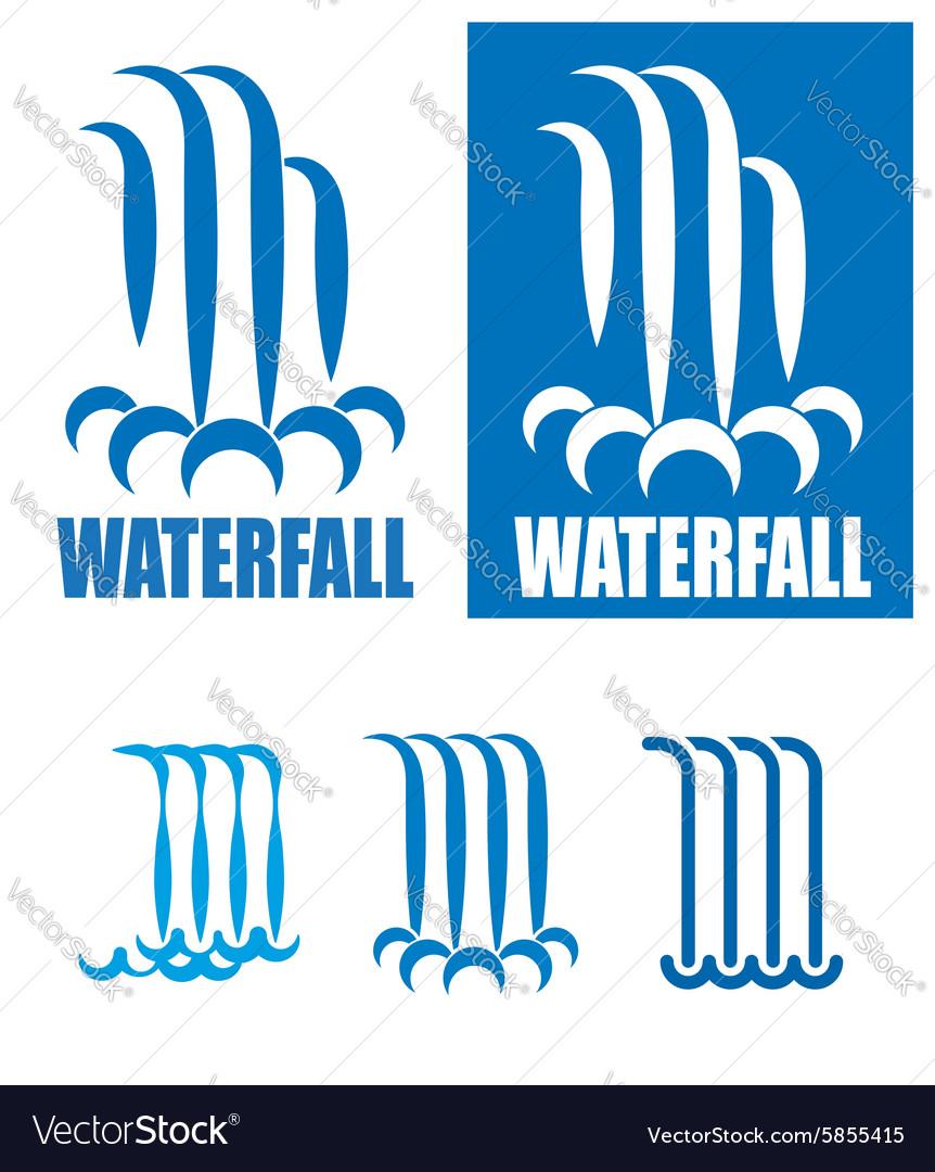 Waterfalls logo set