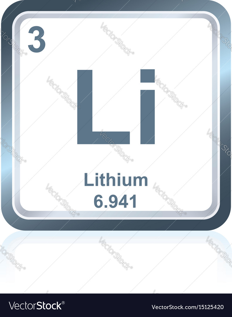 Chemical element lithium from the periodic table vector image urtaz Gallery